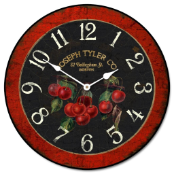 French Cherries Kitchen Clock