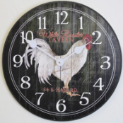 Rooster Wall Clock Tavern