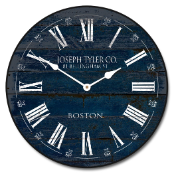 Navy Blue Barnwood Clock Best Seller