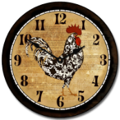 Rooster Clock KItchen