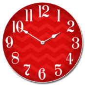 Modern Chevron Clock