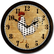 Seeing Spots Rooster Clock