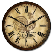 Rooster Shine Clock
