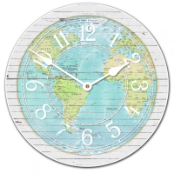 Map Clock Arabic Numbers