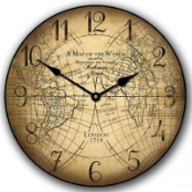 Map Clock Cruso