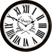Paris Clock Vintage