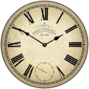 Swiss Time Wall Clock
