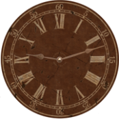 Classic Vintage Brown Wall Clock