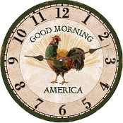 Rooster Clock Good Morning America