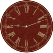 Classic Vintage Red Wall Clock