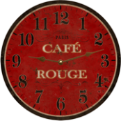 French Cafe Rouge Wall Clock