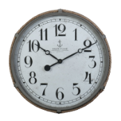 Derby Maritime Wall Clock Gray