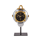 Diver Table Clock-Brass Accents