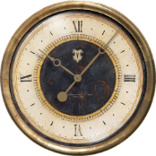 "Caffe Venezia Black Clock 23"" Available 9/27"