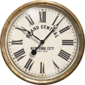 "Grand Central White Clock 23"" OUT OF STOCK"