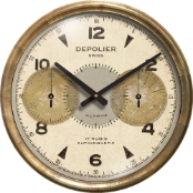 Chronograph Cream Clock  On Sale Now