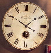 "Harrison Gray Wall Clock 30"" Out Of Stock"