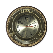 Brass and Rope Porthole Wall Clock