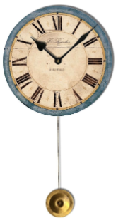 Rossiter Blue Pendulum Clock Free Ship