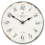 JT Vintage White Wall Clock