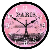 French Postcard Clock