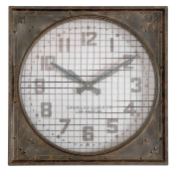 Warehouse Grill Clock Uttermost