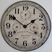 Vintage Bundy Wall Clock
