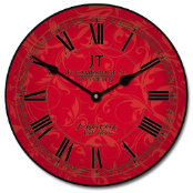 Sydni Red Wall Clock