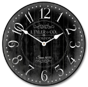 Arbor Black Wall Clock