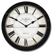 Caroline Black Traditional Clock