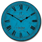 Sydni Blue Wall Clock