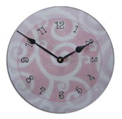 Girls Pink Swirl Clock