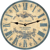Blue Toile Wall Clock