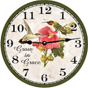 Hummingbird Floral Clock
