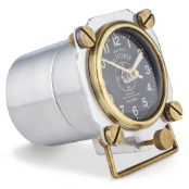 Altimeter Table Clock Polished Aluminum