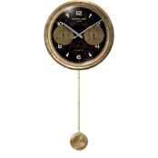 Chronograph Black Long Pendulum Clock