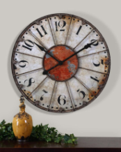 Ellsworth Wall Clock Uttermost