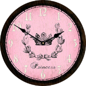 Princess Pink Girls Clock