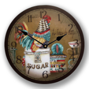 Colorful Rooster Clock