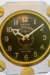 Altimeter Wall Clock Silver