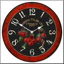 French Cherries Kitchen Clock (SKU: JTC-BCHERR)