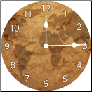 Century Map Clock (SKU: ICD-CMC1)
