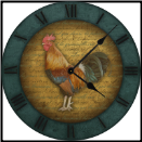 French Rooster Kitchen Clock (SKU: ICD-RSTRB)