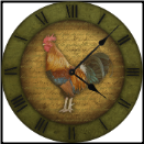 Rooster Kitchen Clock Green (SKU: ICD-RSTRG)