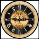 Map Clock Old World (SKU: ICD-MAP1)