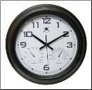 Infinity Indoor Outdoor Wall Clock Seer (SKU: IN14109-BK)
