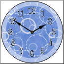 Blue Circles Clock (SKU: JTC-KBCC)