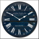 Navy Blue Barnwood Clock Best Seller (SKU: JTC-BWNBC)