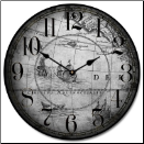 Gray Map Clock