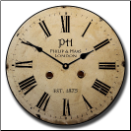 Philip and Haas Large Wall Clock